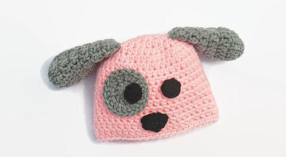 Newborn Puppy Hat & Diaper Cover Newborn by DeesCozyCreations