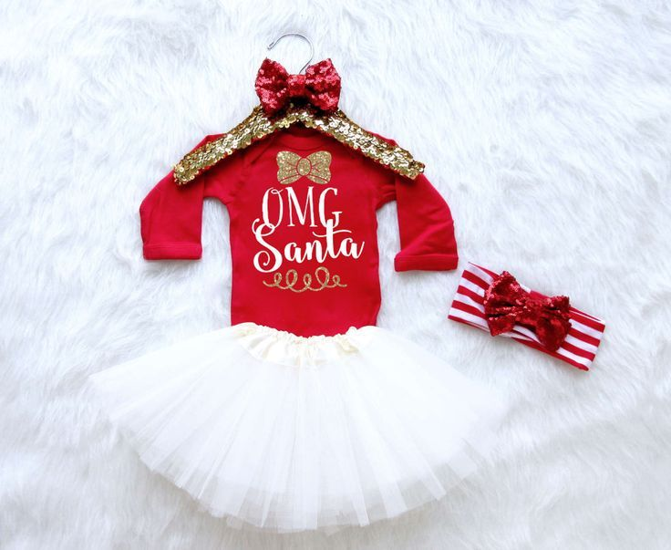 OMG Santa Baby Girl Christmas Outfit. Christmas Bodysuit for Baby Girls. Glitter Christmas Outfit. Toddler Christmas Outfit. by MollieAndLola on Etsy www.etsy.com/...