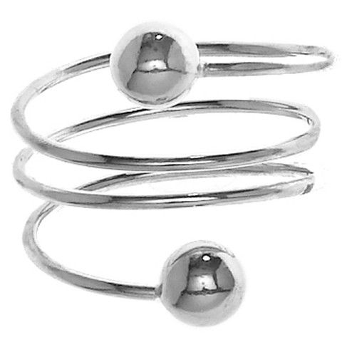 CR05001 - Sterling Silver Wire Wrap w. Ball Accent Ring #lionnedesigns #sterlingsilver #rings #style #love