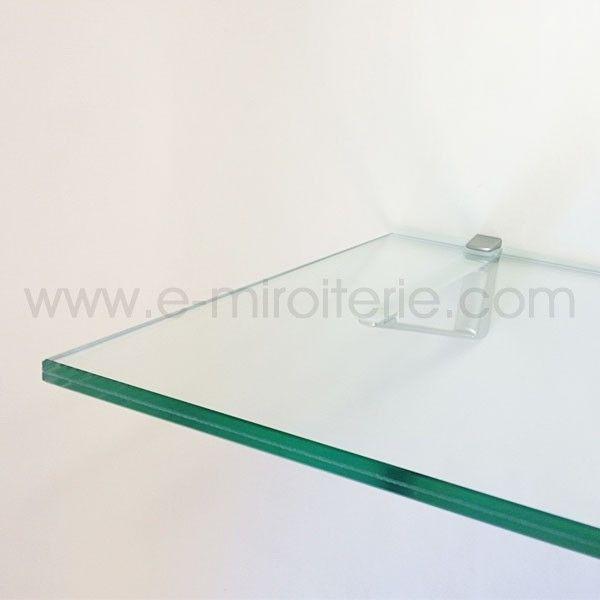 support d etagere et de console babylone mat pour verre feuillete ou verre trempe de 4 a 45mm d. Black Bedroom Furniture Sets. Home Design Ideas