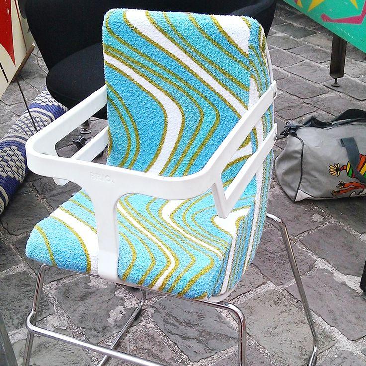 chaise haute bébé Brio rétro!