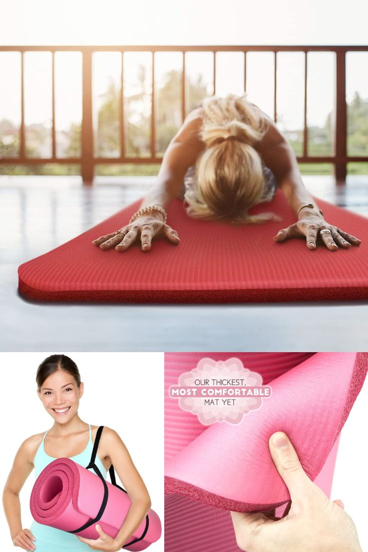 Yoga Cloud Ultra Thick 1 Yoga And Exercise Mat With Shoulder Sling Non Slip Moisture Resistant In 2020 Mat Exercises Exercise Physical Therapy