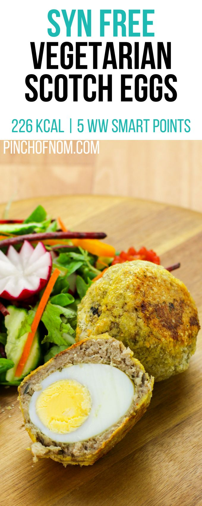 Syn Free Vegetarian Scotch Eggs | Pinch Of Nom Slimming World Recipes     226 kcal | Syn Free | 5 Weight Watchers Smart Points