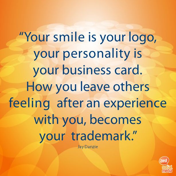 #smile #logo #personality #trademark #businessquote