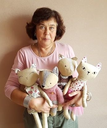 My favorite soft cats and me. Which cats I love. Cats are handmade, I make to order.
