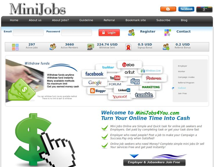 Earn as worker and/or be employer and earn even more: http://minijobs4you.com