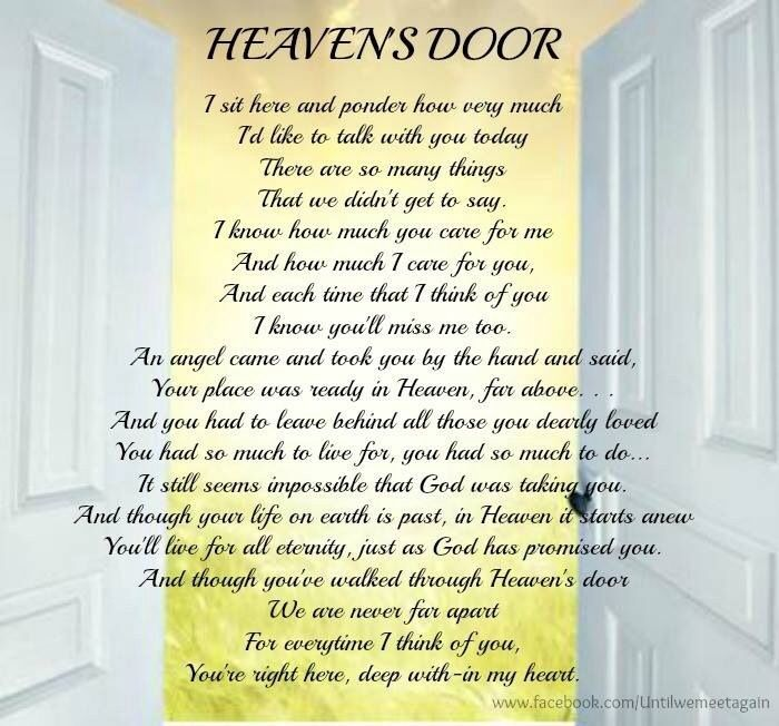 till we meet again in heaven sweet daughter