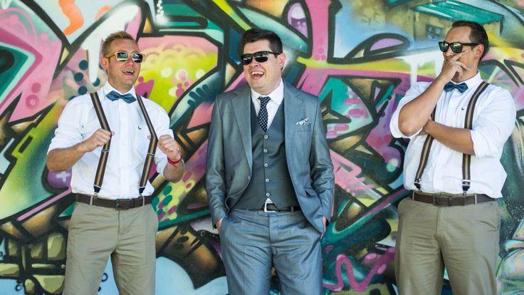 Robert lane, my husband with his bestman Braam Wium and Nico Coetzee as groomsman.