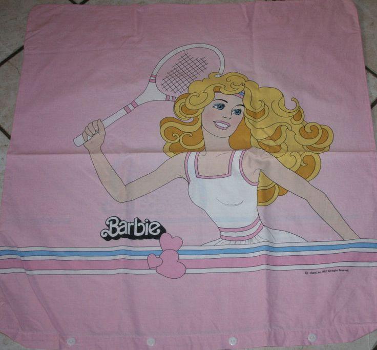 Barbie 1Bettbezüg/ 1 Kopfkissen mit Knöpfen *Retro / Vintage* Haushaltsauflösung    eBay