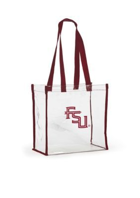 Desden Florida State University Clear Stadium Tote - Dark Red - One Size