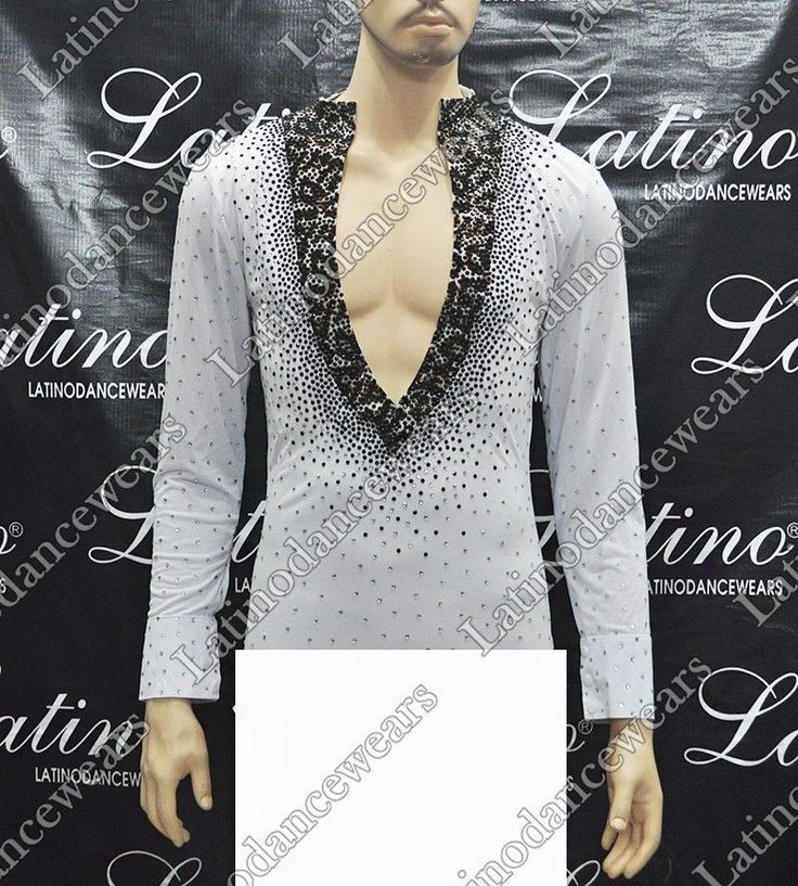 MEN'S LATIN SALSA (BALLROOM) COMPETITION SHIRT SIZE S, M, L (BS45)