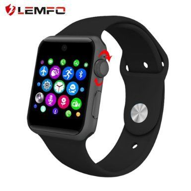 Lemfo LF07 Bluetooth SmartWatch 2.5D ARC HD(Black) >>> Want to know more, click on the image.