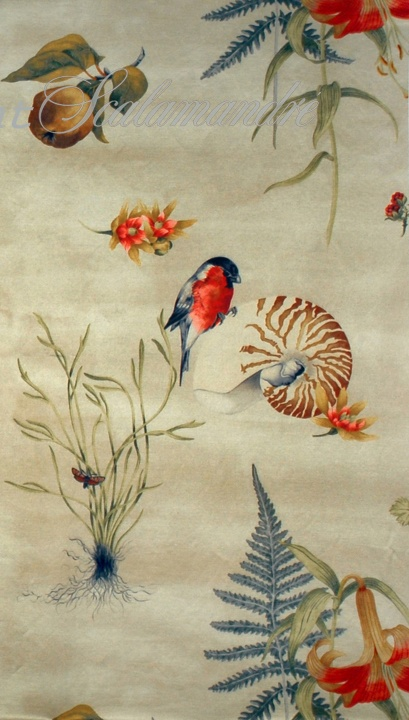 Scalamandre Bullfinch & Nautillus.  We will beat any advertised price on any Scalamandre fabric and wallpaper at Aubusson Home.  Contact us for more information.