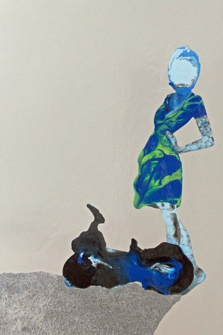 Angela Smith - Featherweight (Gloss, enamel and oil on canvas). Beautiful piece of work.