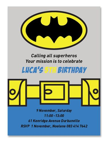 ONLINE STORE - Batman Invite  http://awishawaywhimsical.blogspot.com/p/online-store_8.html#!/~/category/id=8500072&offset=0&sort=normal