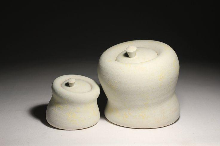 Seated Jars, Daniel Cavey, wheel-thrown stoneware