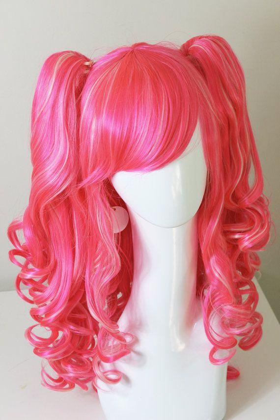 MLP Pinkie Pie Cosplay wig by CookieKwigs on Etsy, $48.00
