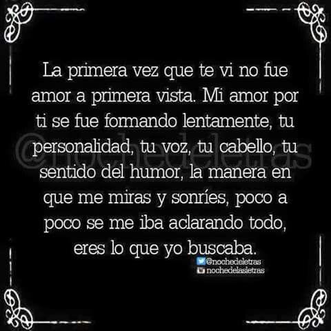 No Amor A Primera Vista Together Pinterest Amor Frases De