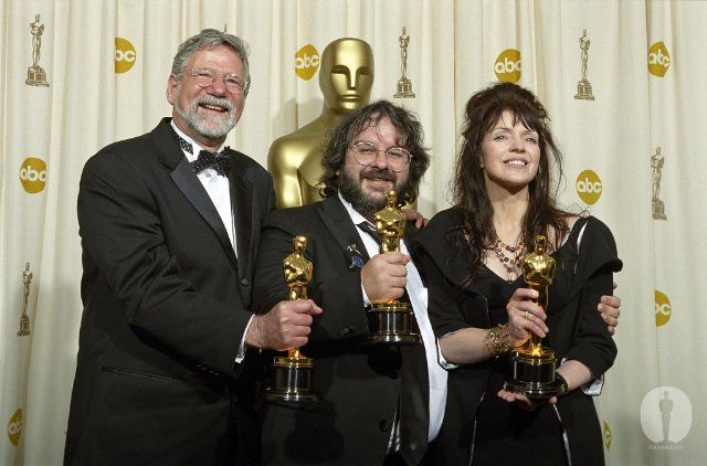 Peter Jackson, Barrie M. Osborne and Fran Walsh at event of The 76th Annual Academy Awards