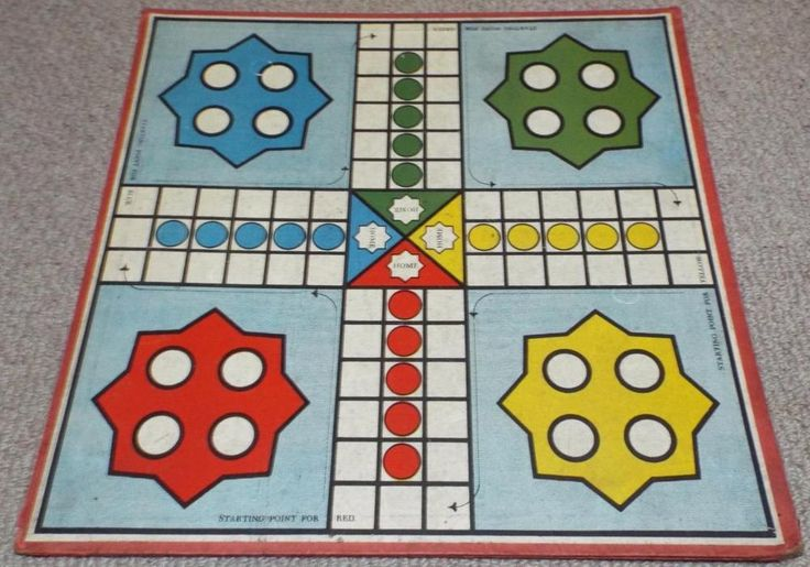 Antique Vintage Ludo / Chess / Back Gammon Games Board - Board Only