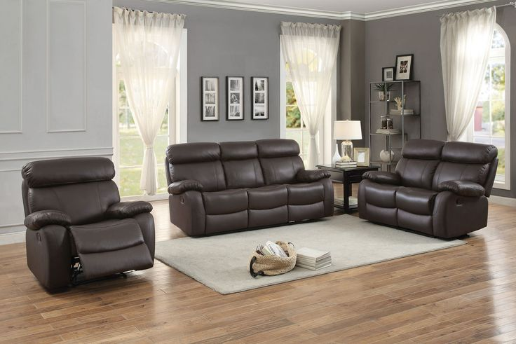 Home Elegance Pendu Collection Double Reclining Sofa 8326BRW-3
