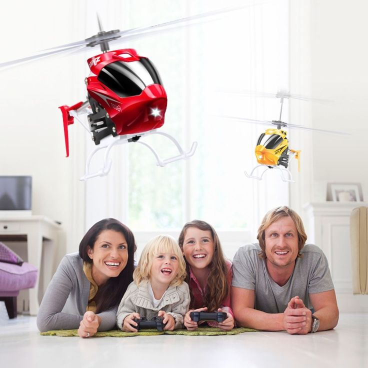 Mini Helicopter Drone Remote Controlled Gyno Crash Resistant Vehicles Kids Toy #Unbranded