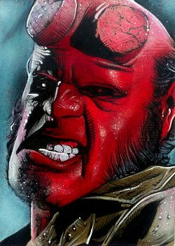 Hellboy Movie Sketch Card 2 by RandySiplon on DeviantArt