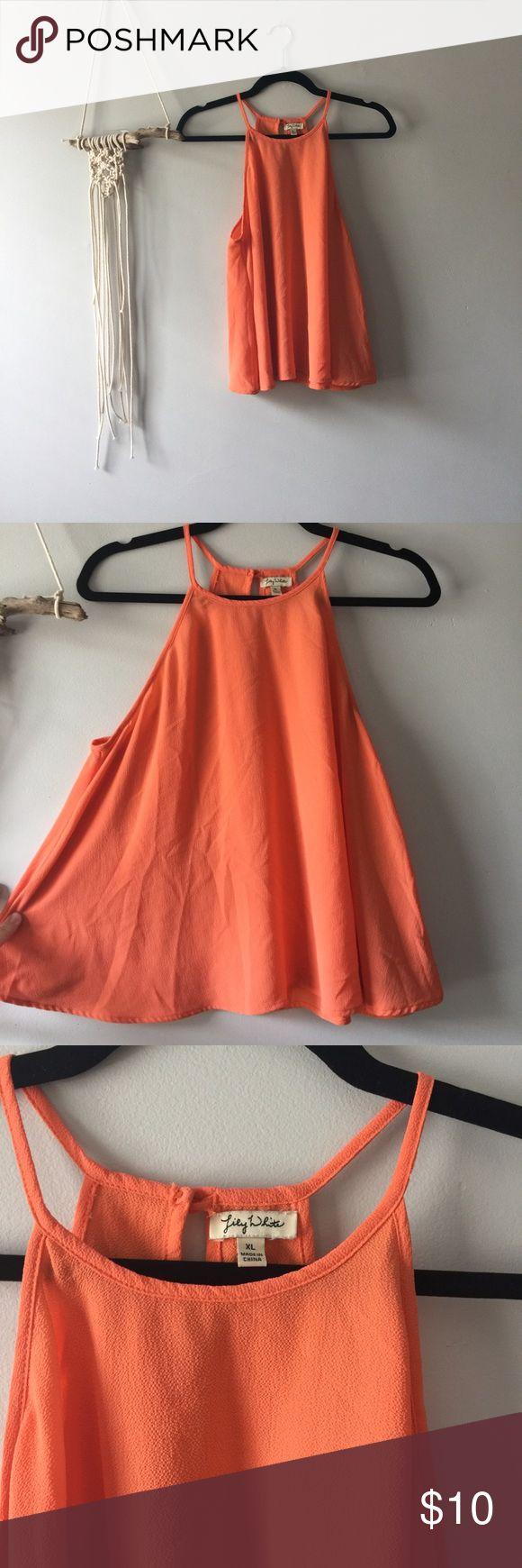 Orange Swingy high neck cami Lightweight orange cami Tops Camisoles