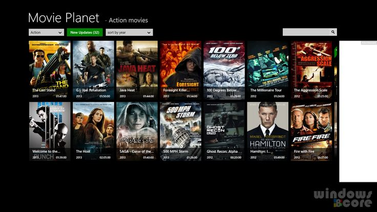 Movie Planet app for Windows 8/RT/8.1 lets you watch full movies from YouTube