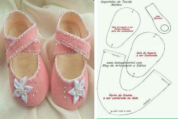 Moldes y modelos para hacer zapatillas de tela para bebes. Siempre cuando tenemos a nuestros hijos en casa queremos llenarlos de obsequios y de cariño, y m