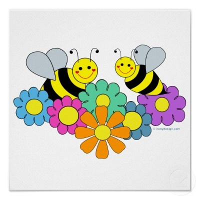 Bees & Flowers - by Amy