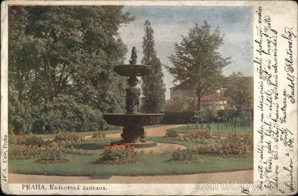 Fountain in the Royal Garden Prague Czech Republic