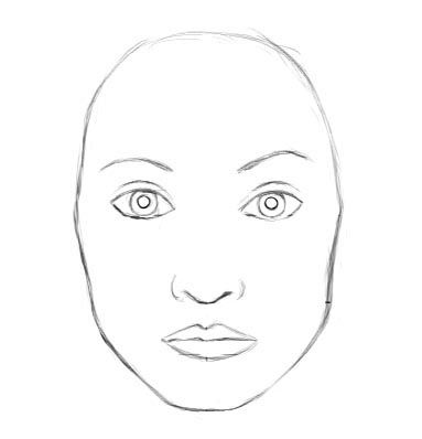 Gallery For gt Female Face Outline