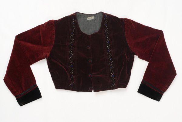 Greece, Macedonia, Drama, sleeved velvet jacket (zipouni)