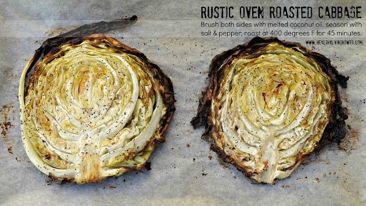 #Healthy Recipe: Rustic Oven Roasted Cabbage #lowcarb