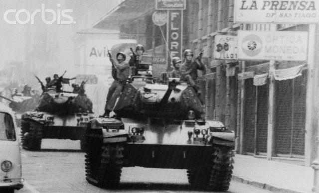 calle Moneda 11 septiembre 1973