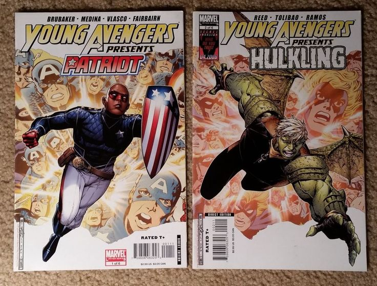 Marvel Young Avengers 2-Book Lot - Issues Listed in Description