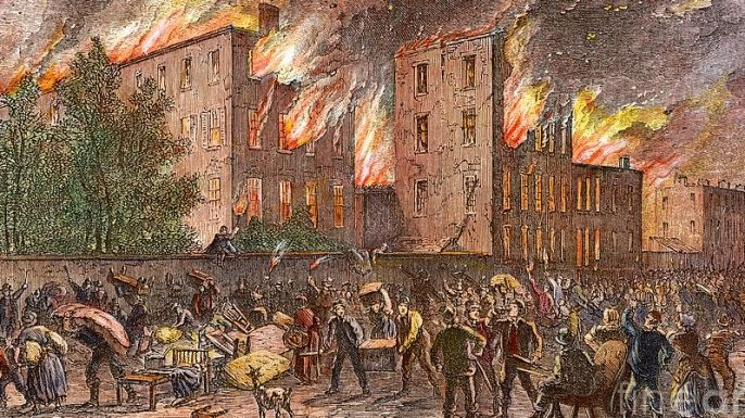 Four Days of Fire: The New York City Draft Riots - History in the Headlines -- Whites don't riot, loot, burn, and murder?