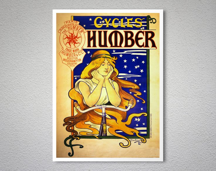 Cycles Humber Vintage Bicycle Poster