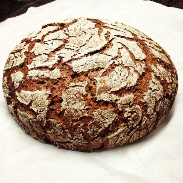 First #Raimugido sourdough rye for The year 2014.