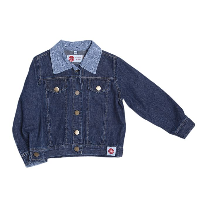 Denim Jacket with Blue trim (Girl) - Sojo