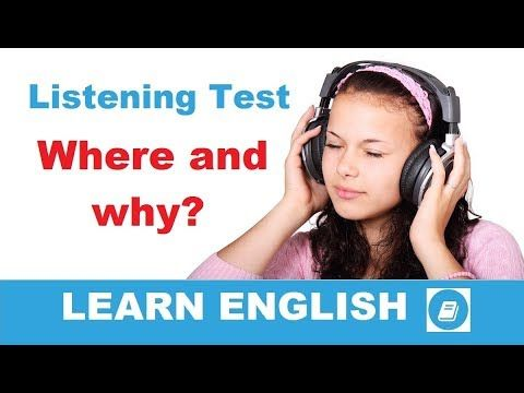 Where and Why?  - Elementary Listening Test