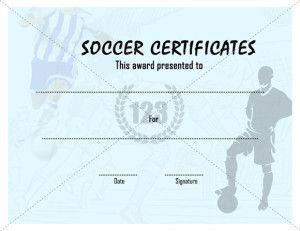Beautiful Sports Certificate Template | Certificate Templates