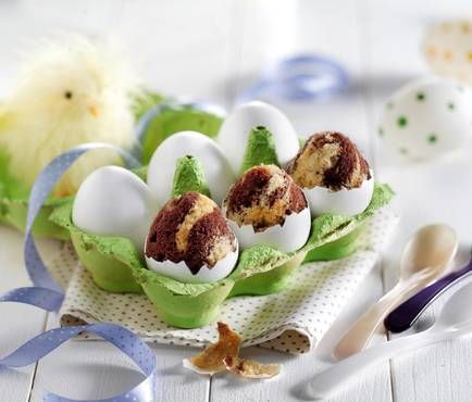 Mini-Marmorkuchen in Eiform