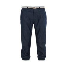 Elegant and sportive pants in pliant and silk shiny dark denim -  Mexx Online Shop Nederland