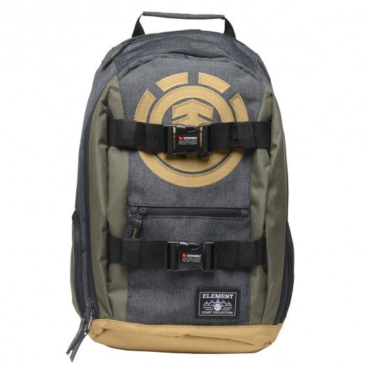 ELEMENT Mohave BPK sac à dos avec sangles pour skateboard Charcoal Heather Moss Green 65,00 € #skate #skateboard #skateboarding #streetshop #skateshop @playskateshop