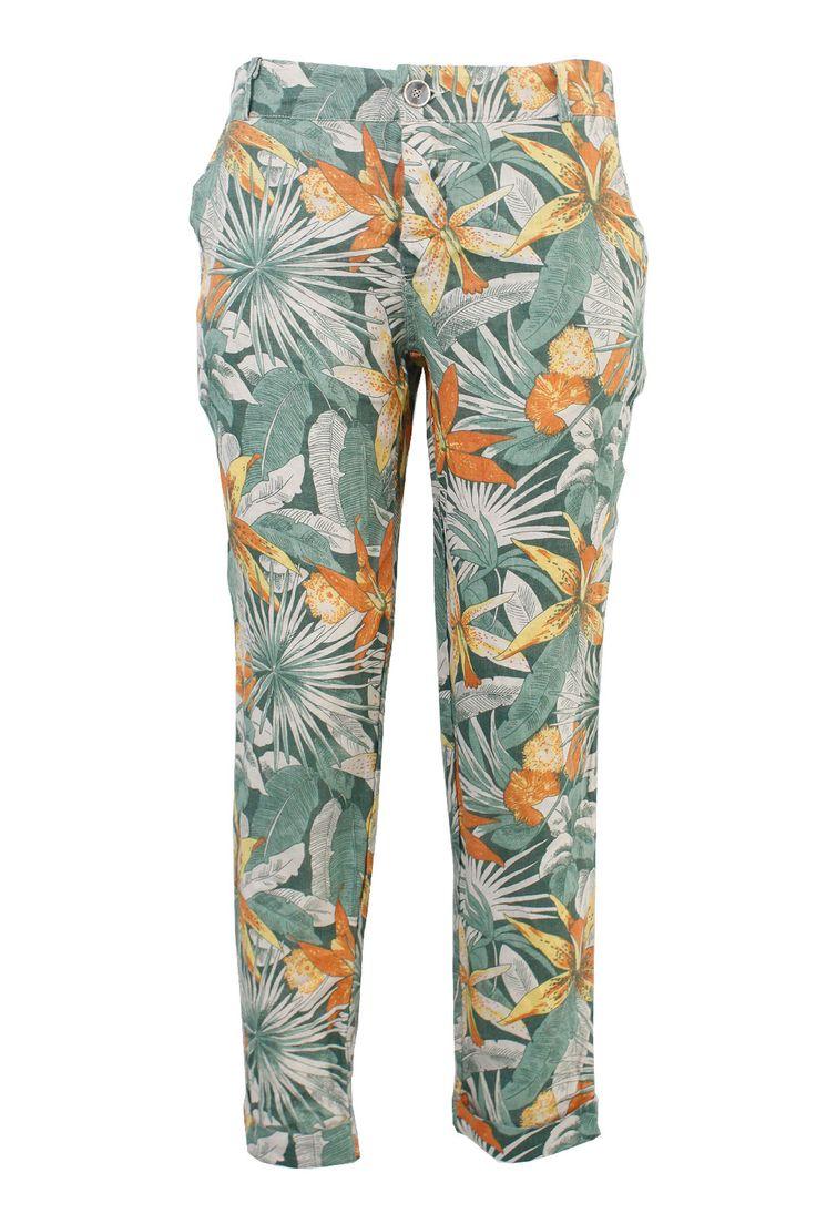 Pantaloni stampa fiore | Giorgia & Johns