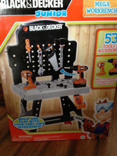 Junior Power Tool Workshop Black And Decker Workbench Toys