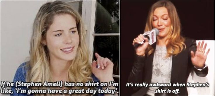 Olicity vs. Lauriver ehehehe #Arrow // Katie and Emily about Stephen being shirtless. XD