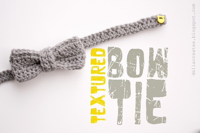 Crocheted Bow Ties (love that its secured with a button...genius!) Making this right now!
